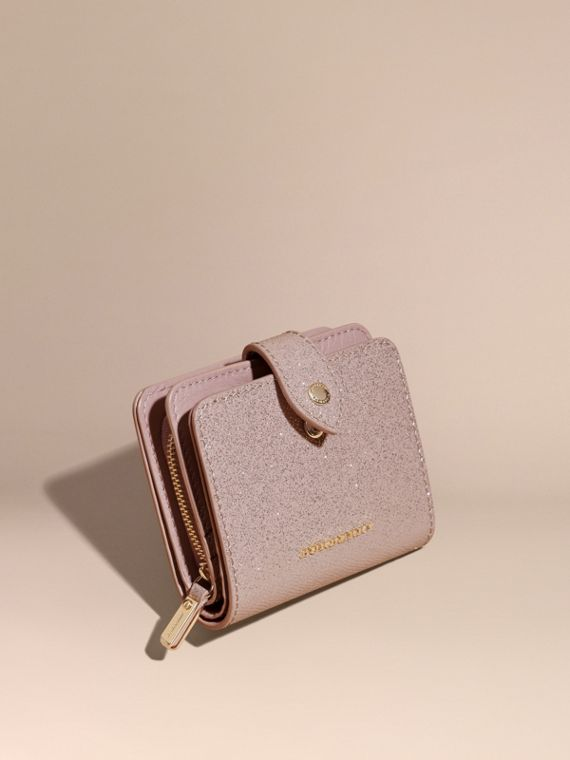 Glitter Patent London Leather Wallet Pale Orchid