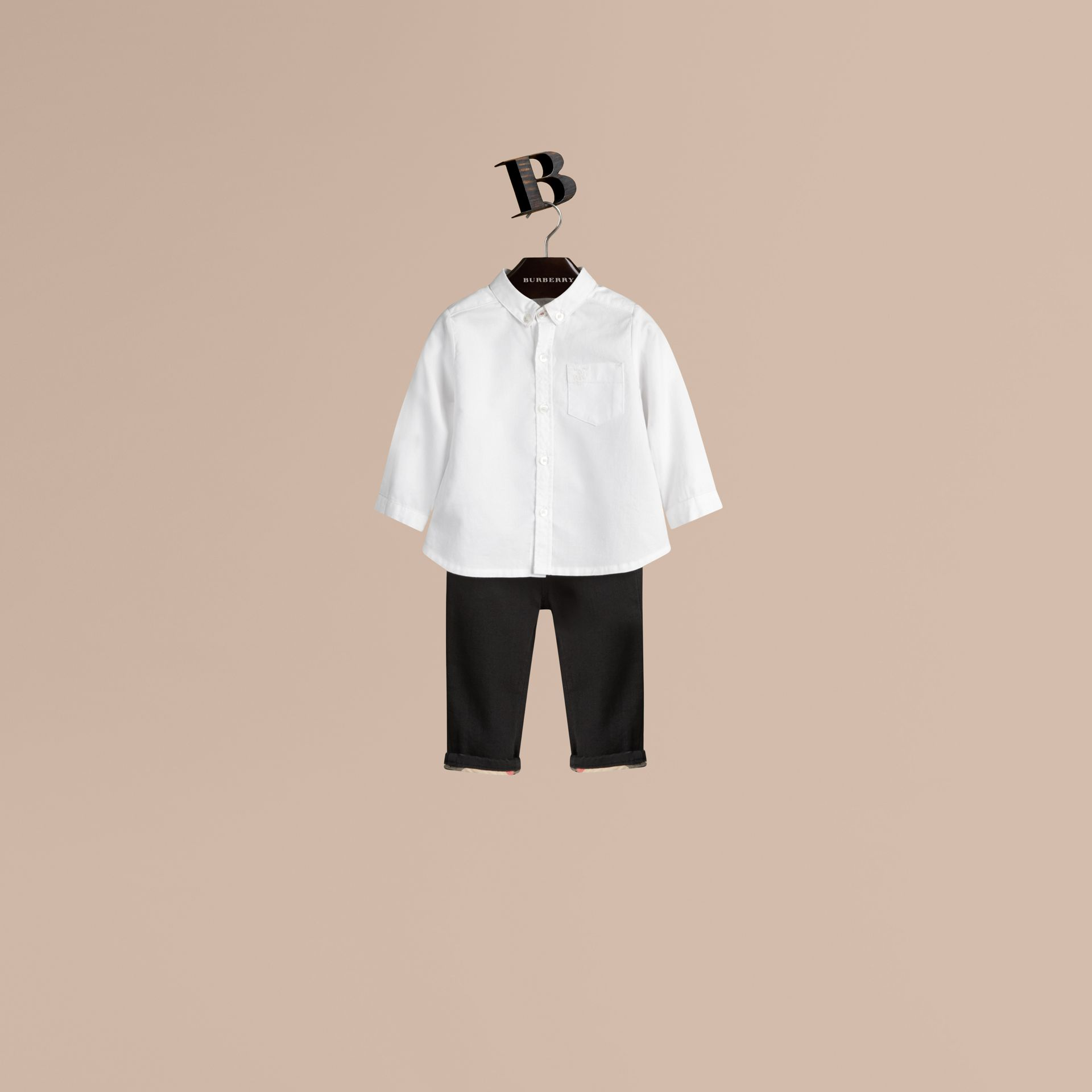 White Cotton Oxford Shirt - gallery image 1