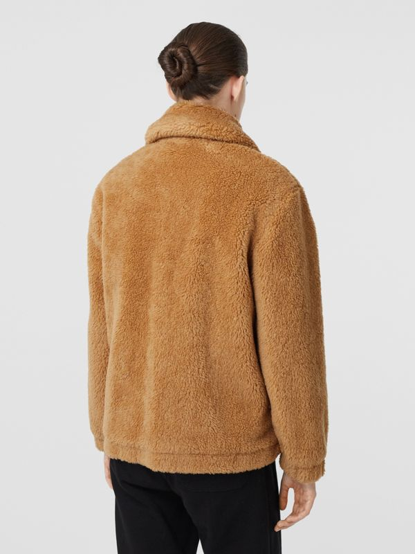 Monogram Motif Fleece Jacket in Camel - Women | Burberry - cell image 2