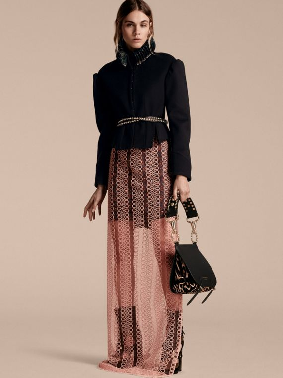 The Bridle Bag in Leather and Calfskin in Black - Women | Burberry United Kingdom - cell image 2