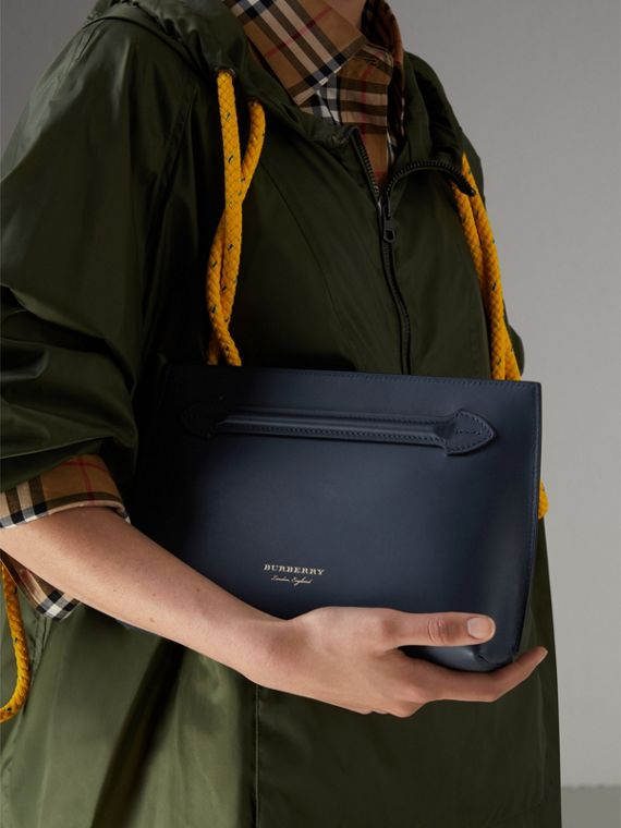 Leather Wristlet Clutch in Mid Indigo - Women | Burberry United States - cell image 3
