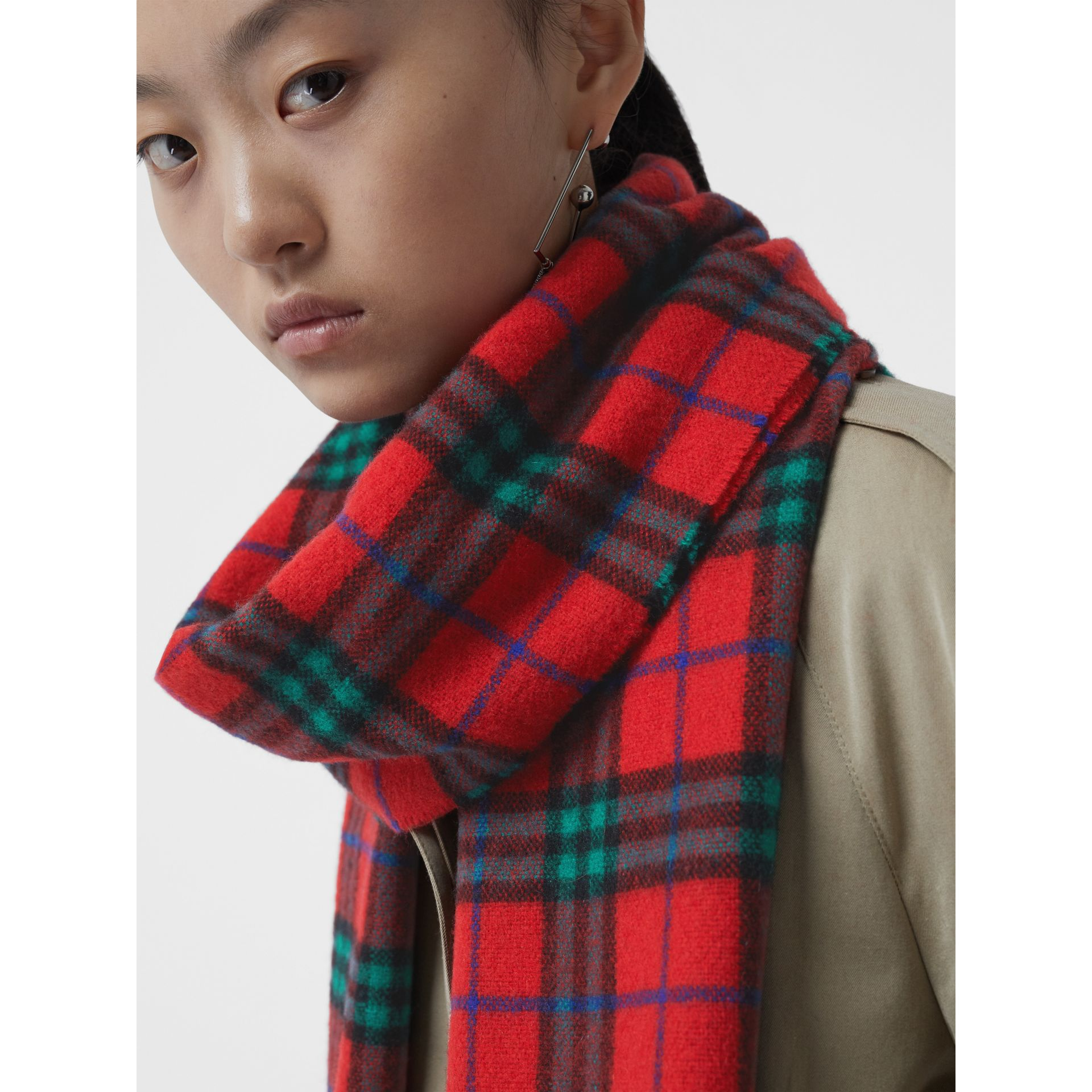 Check Cashmere Scarf | Burberry Singapore - gallery image 5