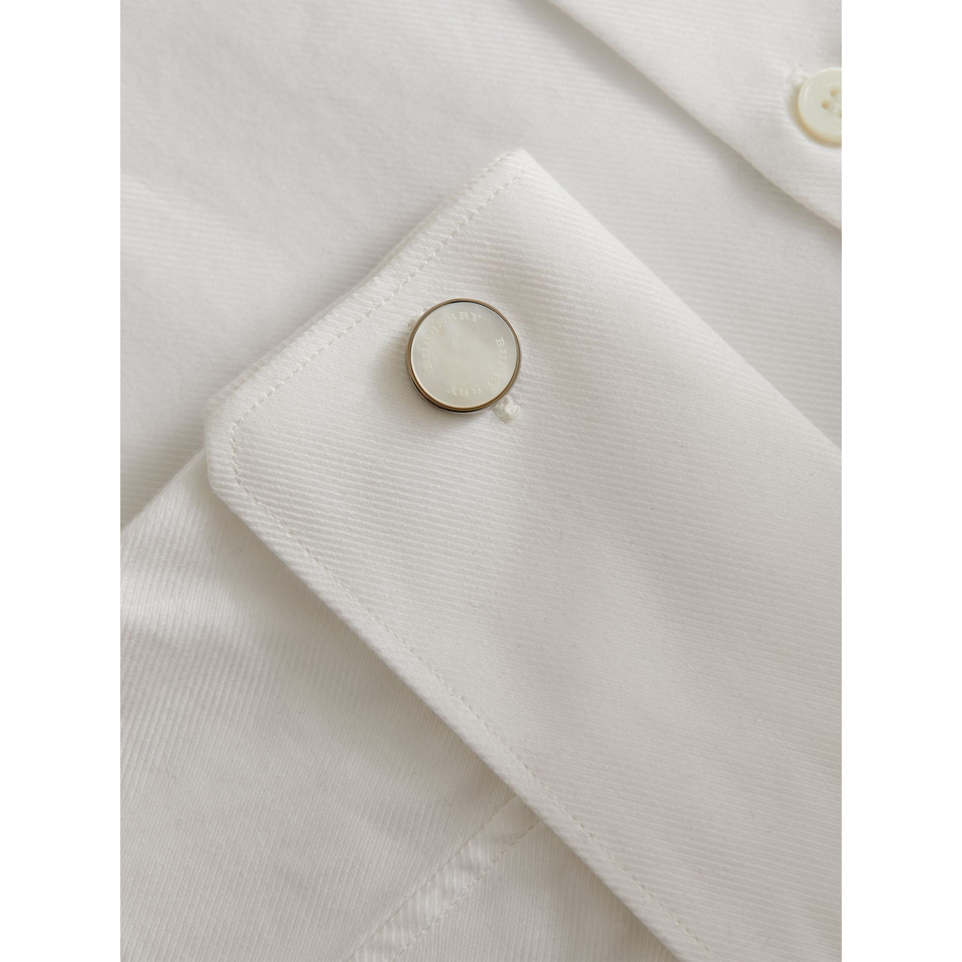 Mother-of-pearl Stone Round Cufflinks - Men | Burberry - gallery image 3