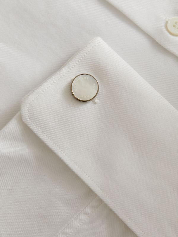 Mother-of-pearl Stone Round Cufflinks - Men | Burberry - cell image 2