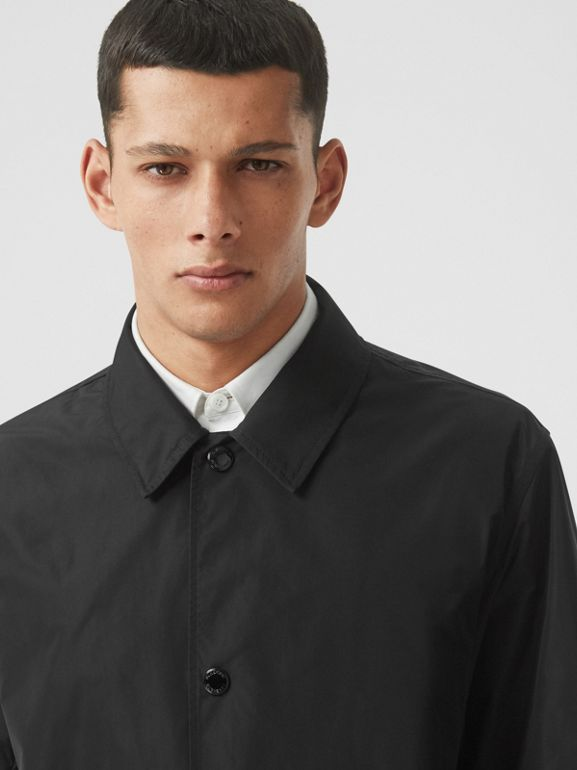 Detachable Hood Shape-memory Taffeta Car Coat in Black - Men | Burberry - cell image 1