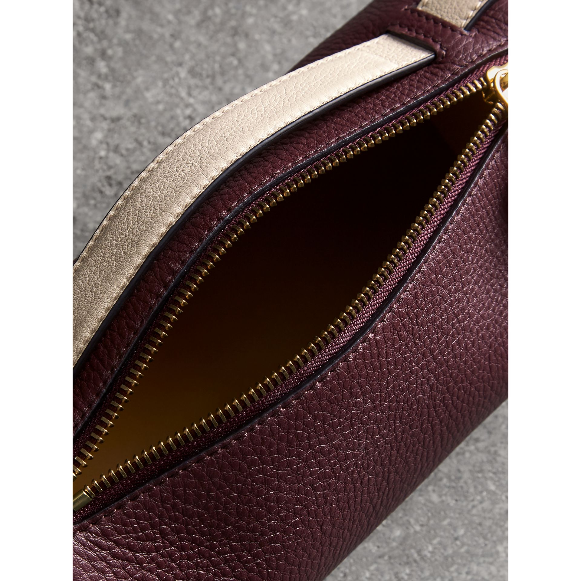 The Leather Barrel Bag in Deep Claret/limestone - Women | Burberry United States - gallery image 5