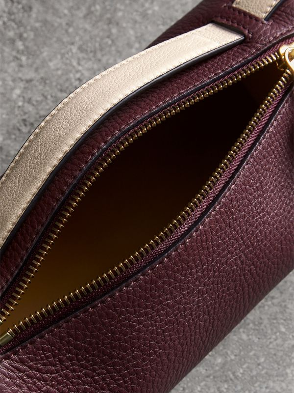 The Leather Barrel Bag in Deep Claret/limestone - Women | Burberry United States - cell image 3