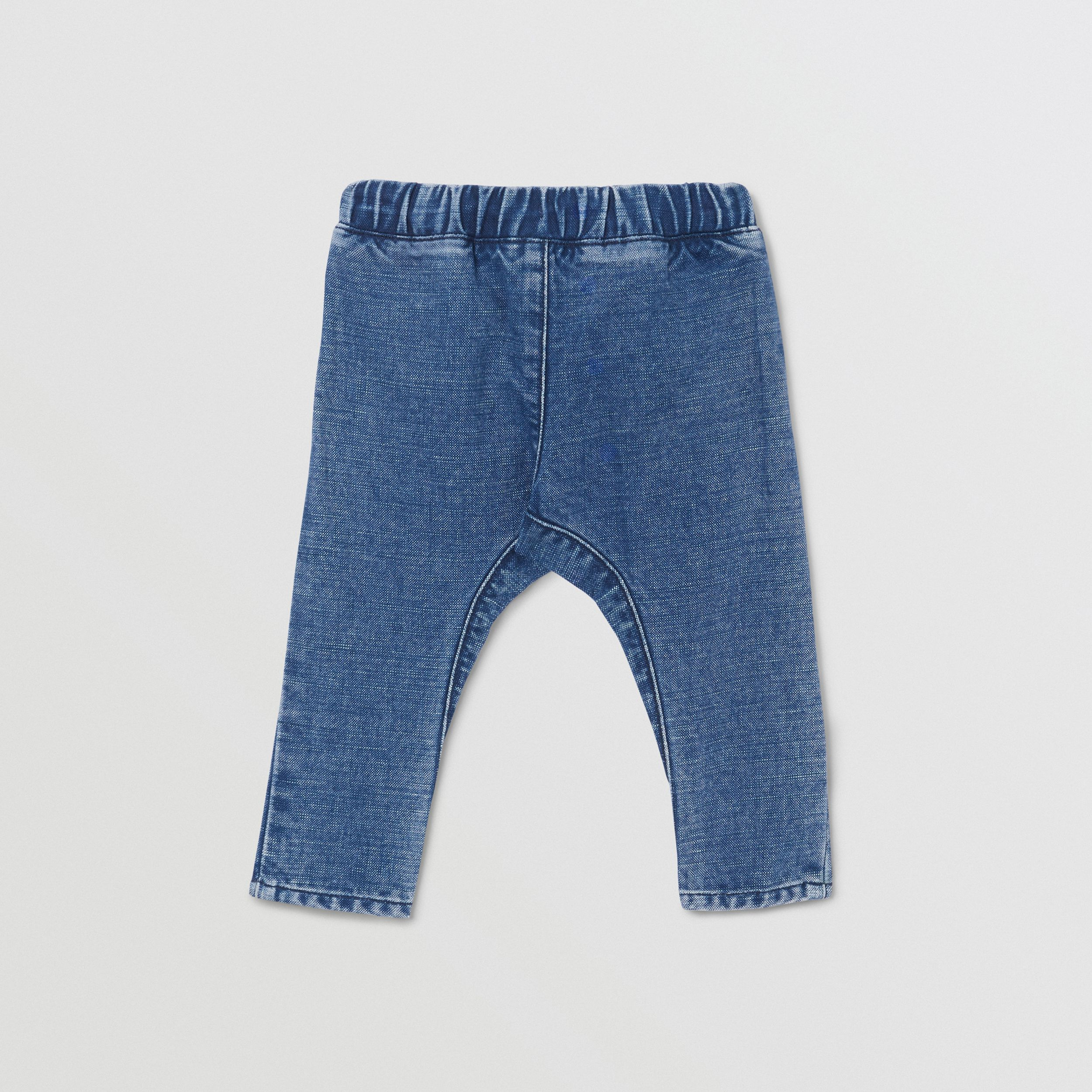 Logo Print Japanese Denim Jeans in Indigo - Children | Burberry - 4