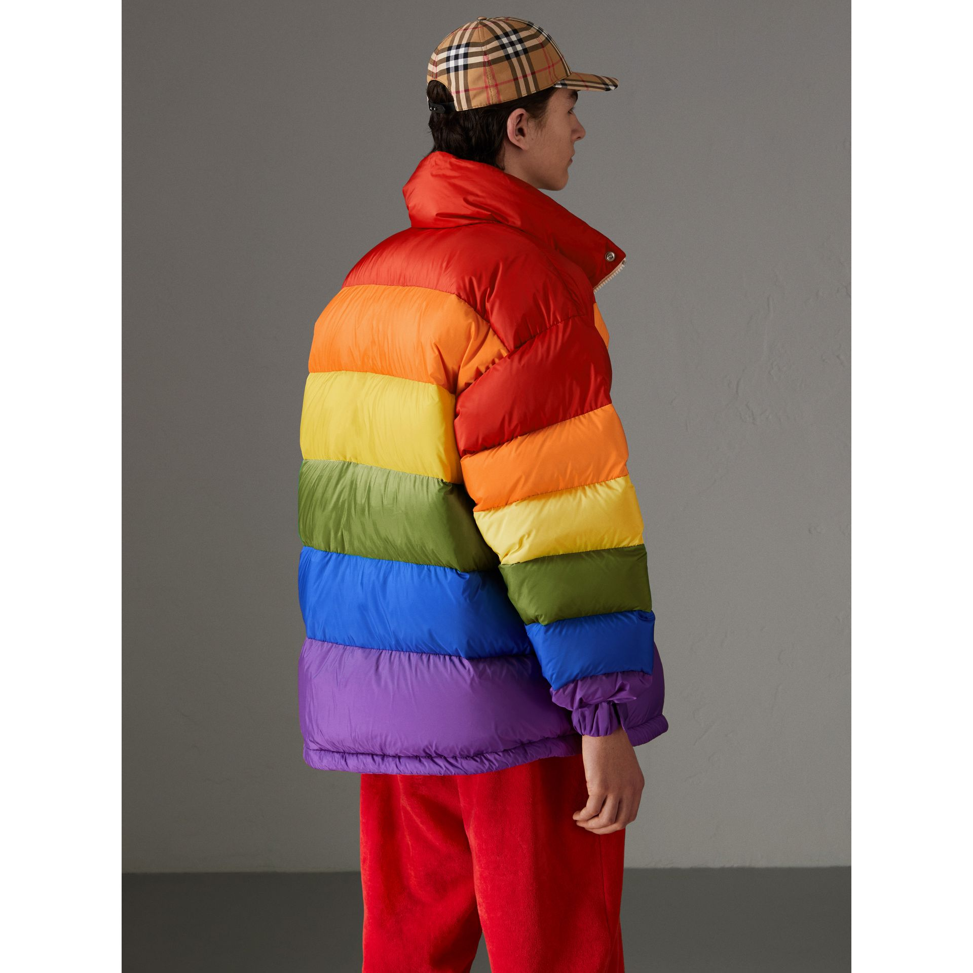Rainbow Down-filled Puffer Jacket | Burberry - gallery image 2