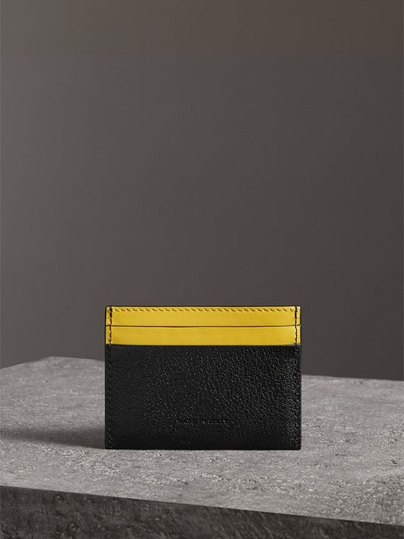 Two-tone Leather Card Case in Black - Women | Burberry - cell image 2