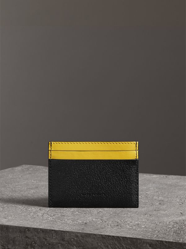Two-tone Leather Card Case in Black | Burberry Australia - cell image 2