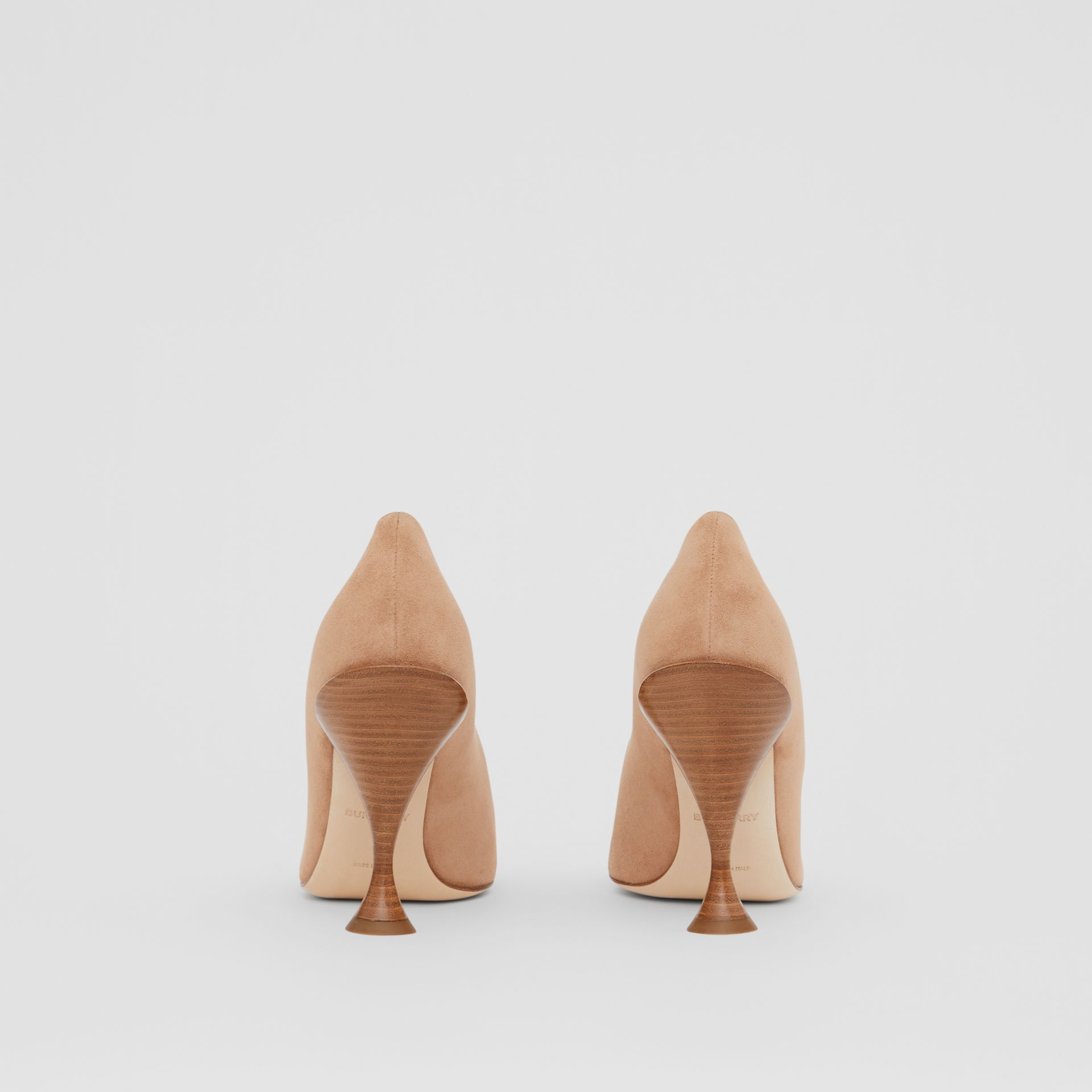 Suede Point-toe Pumps in Warm Camel - Women | Burberry - gallery image 3