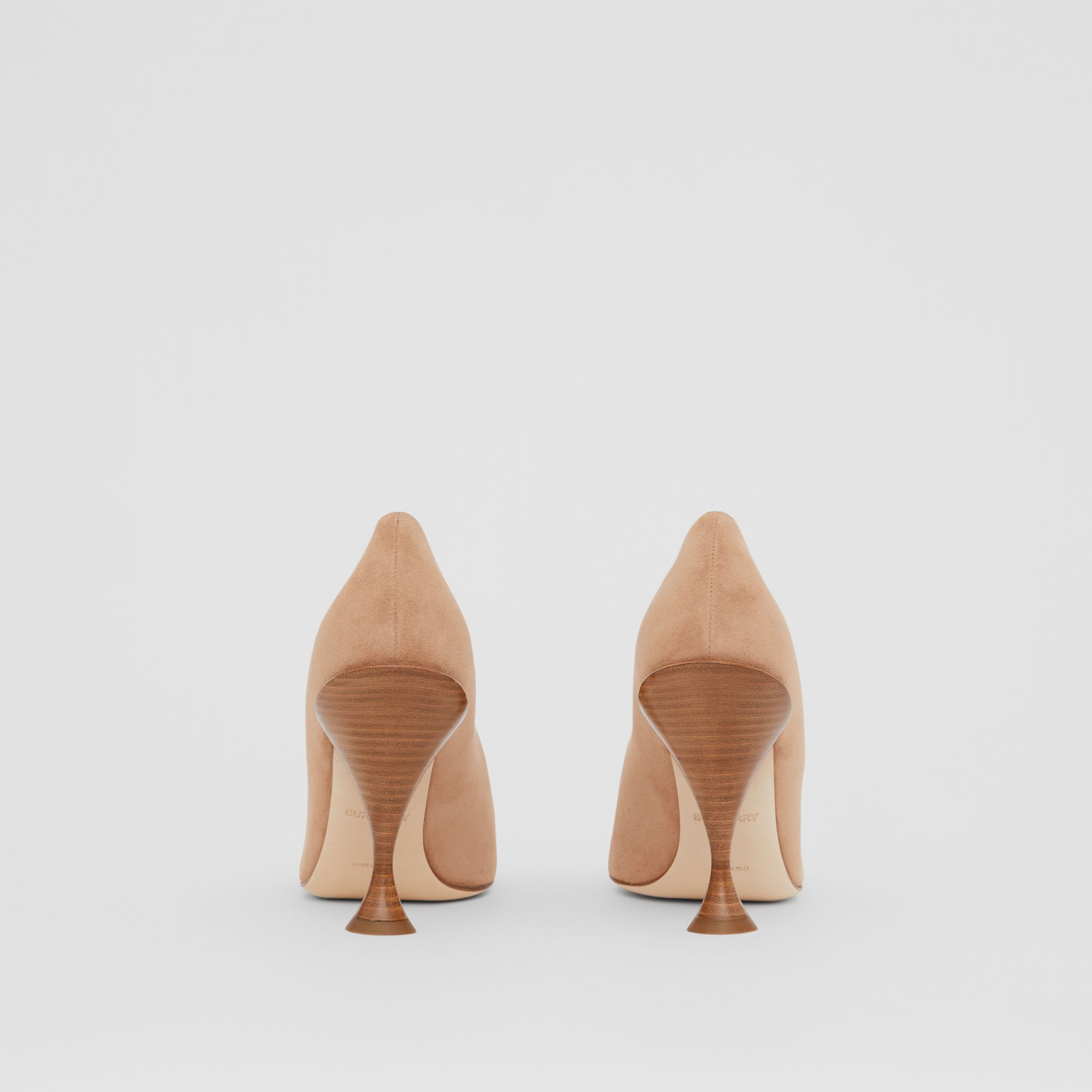 Suede Point-toe Pumps in Warm Camel - Women | Burberry - 4