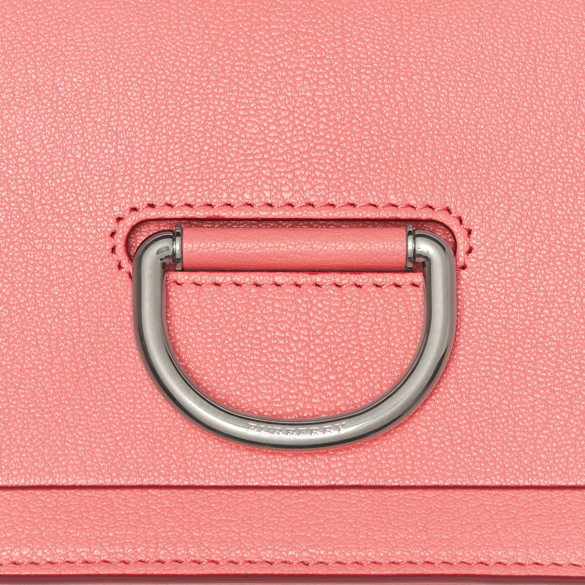 The Small Leather D-ring Bag in Bright Coral Pink - Women | Burberry - gallery image 1