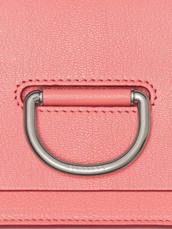 The Small Leather D-ring Bag in Bright Coral Pink - Women | Burberry - cell image 1