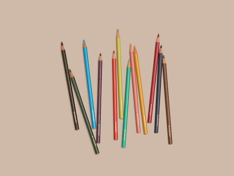 Set of Coloured Pencils in Multicolour | Burberry Hong Kong - cell image 2