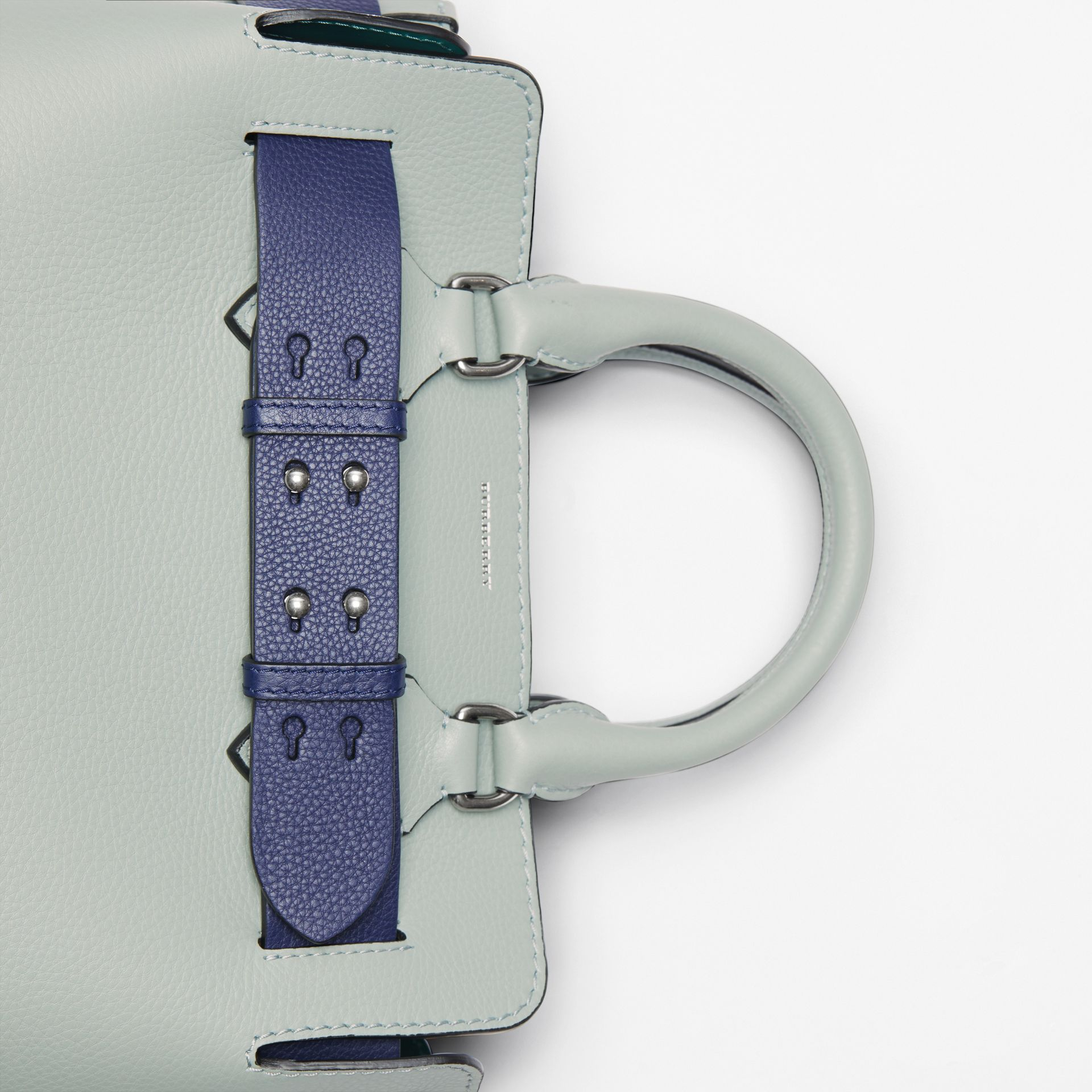 The Small Leather Belt Bag in Grey Blue - Women | Burberry - gallery image 1