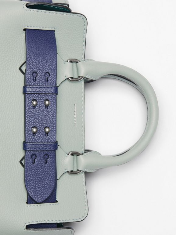 The Small Leather Belt Bag in Grey Blue - Women | Burberry United Kingdom - cell image 1
