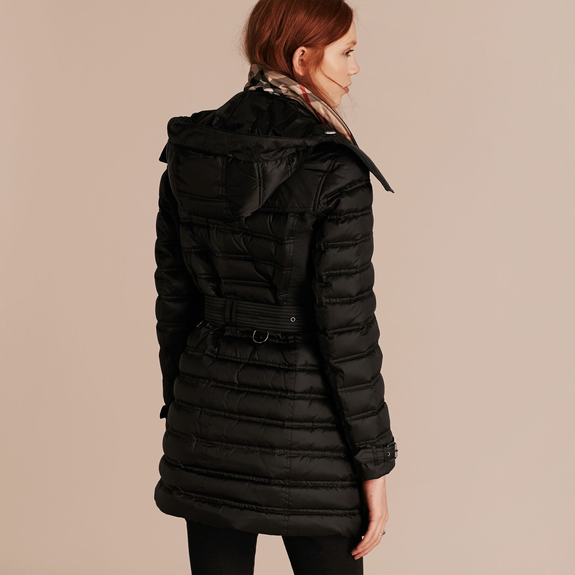 Black Down-filled Puffer Coat Black - gallery image 3