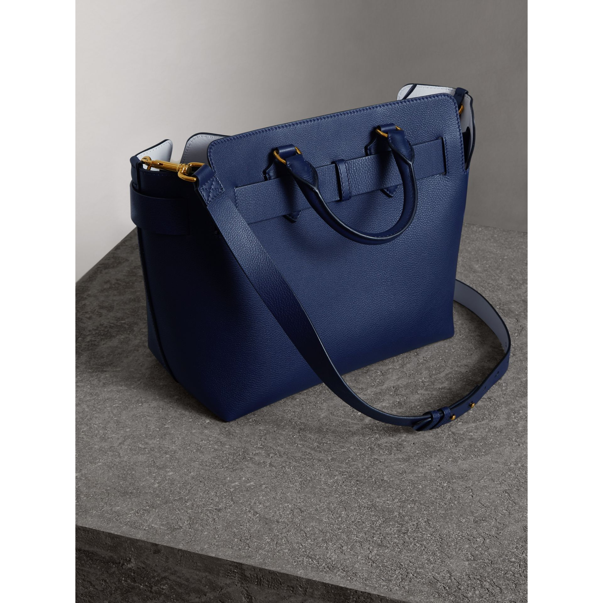 The Medium Leather Belt Bag in Regency Blue - Women | Burberry Canada - gallery image 4