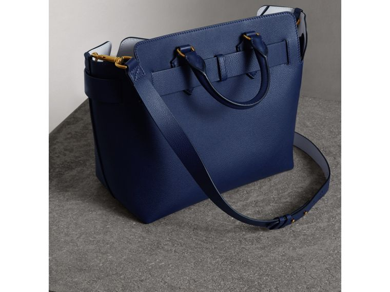 The Medium Leather Belt Bag in Regency Blue - Women | Burberry - cell image 4