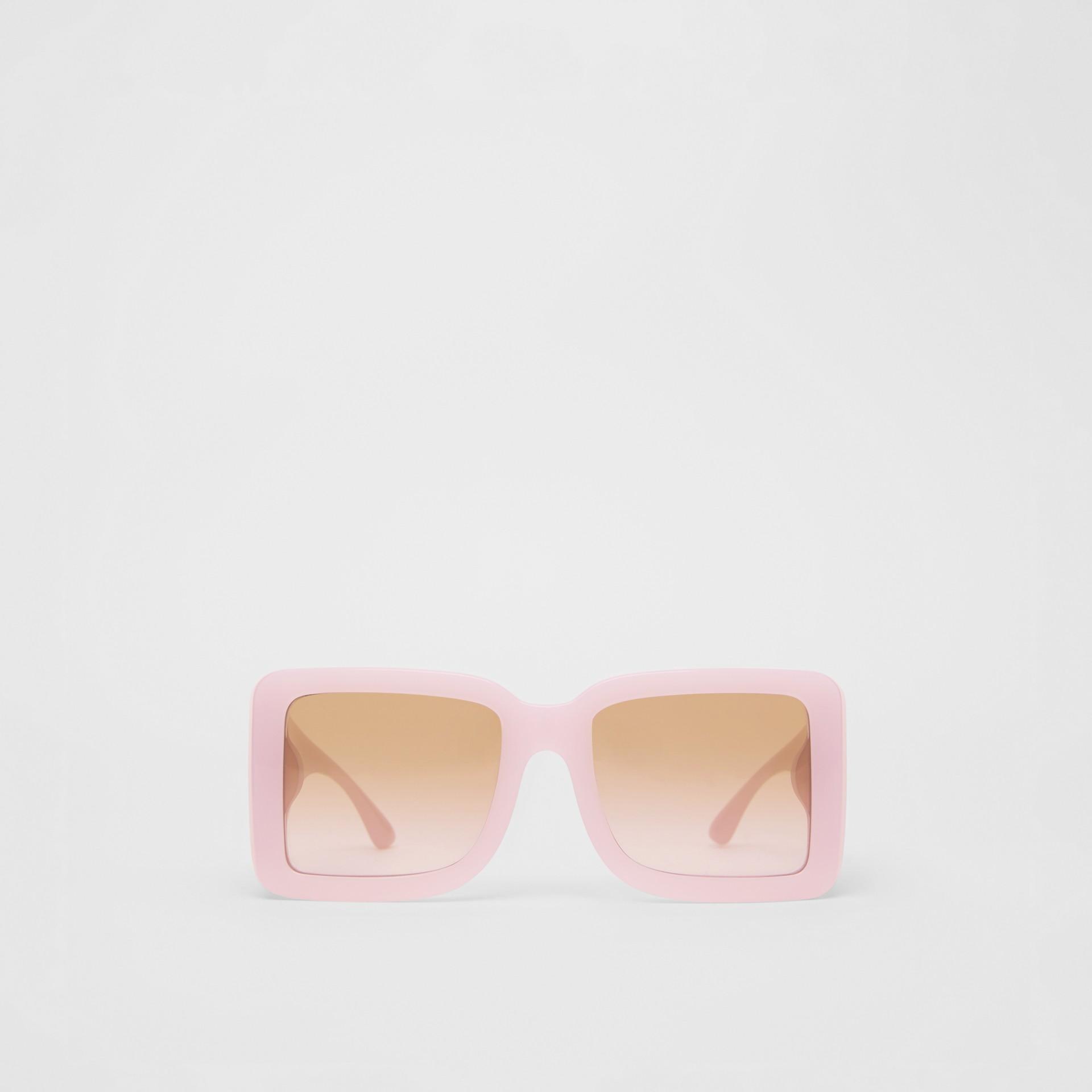 Lunettes de soleil carrées à motif «B» (Lilas) - Femme | Burberry Canada - photo de la galerie 0