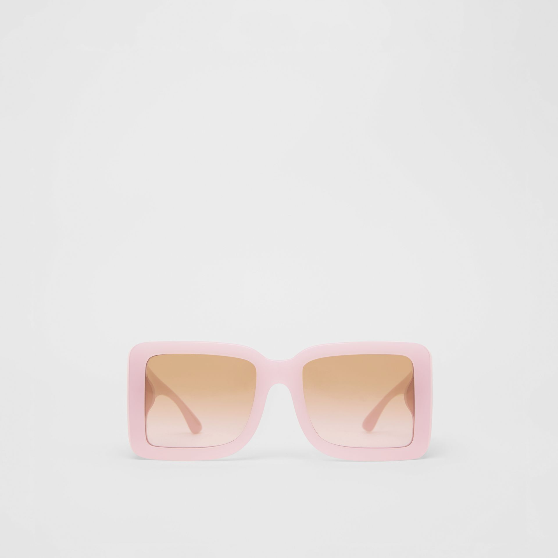 B Motif Square Frame Sunglasses in Lilac - Women | Burberry Australia - gallery image 0