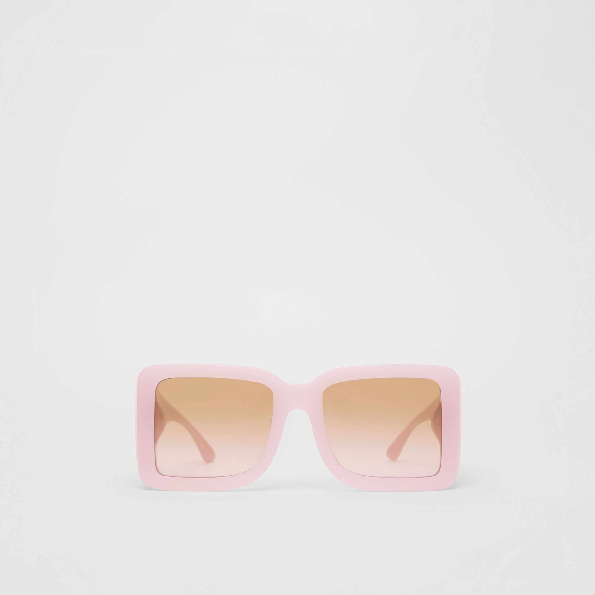 B Motif Square Frame Sunglasses in Lilac - Women | Burberry - 1
