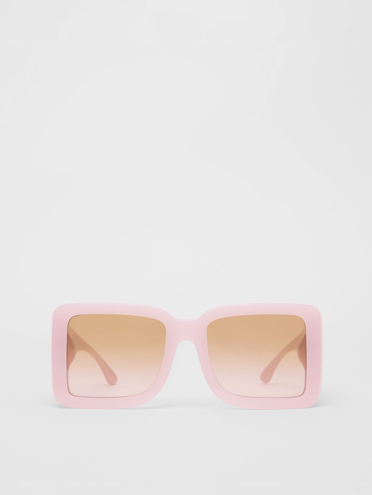 B Motif Square Frame Sunglasses in Lilac