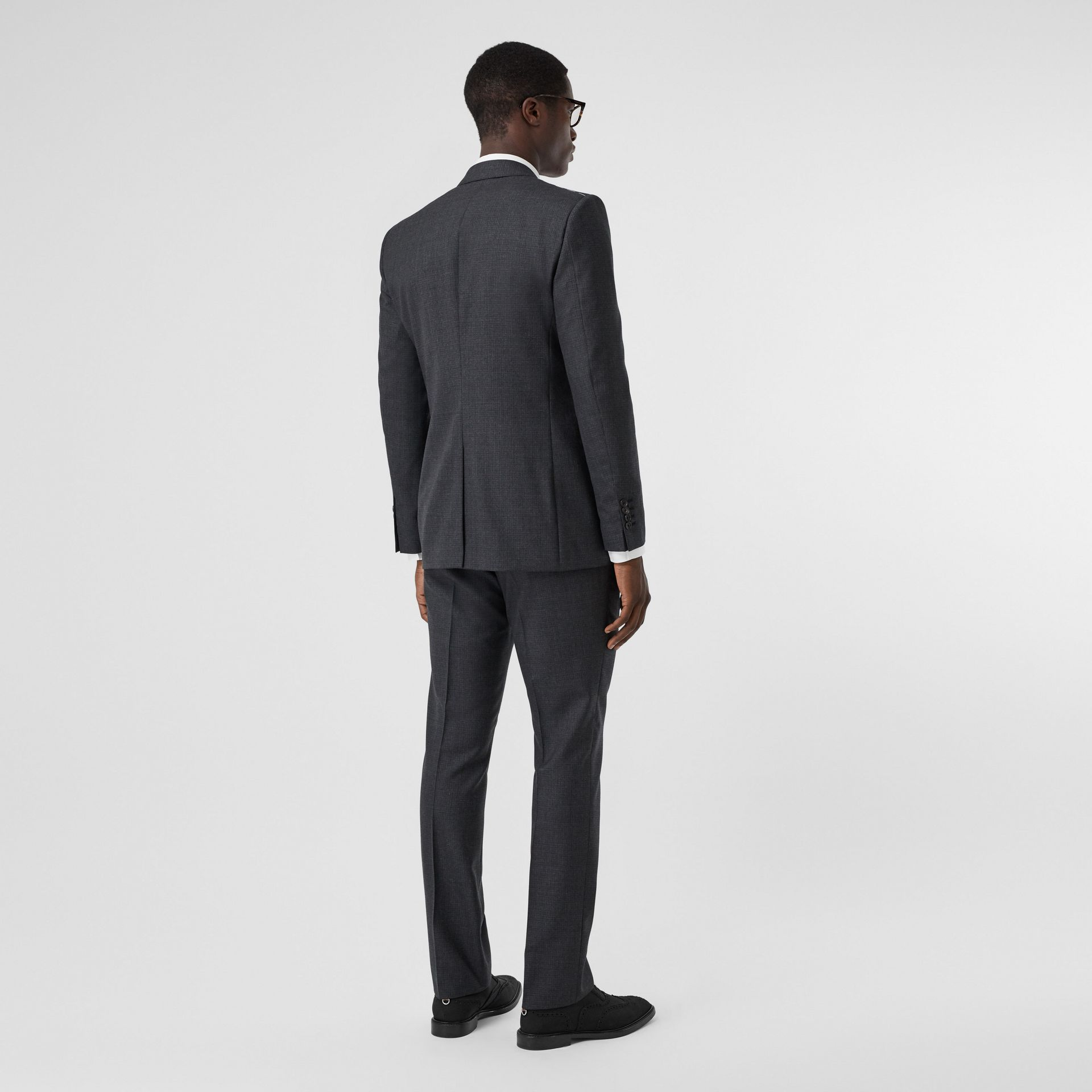 Classic Fit Windowpane Check Wool Three-piece Suit in Charcoal - Men | Burberry - gallery image 2