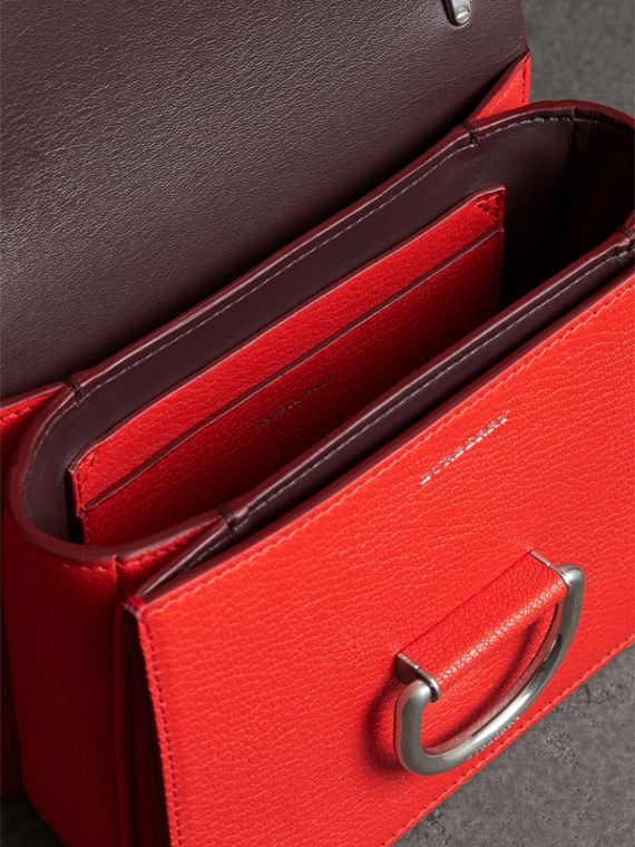 The Small Leather D-ring Bag in Bright Red - Women | Burberry Australia - cell image 3
