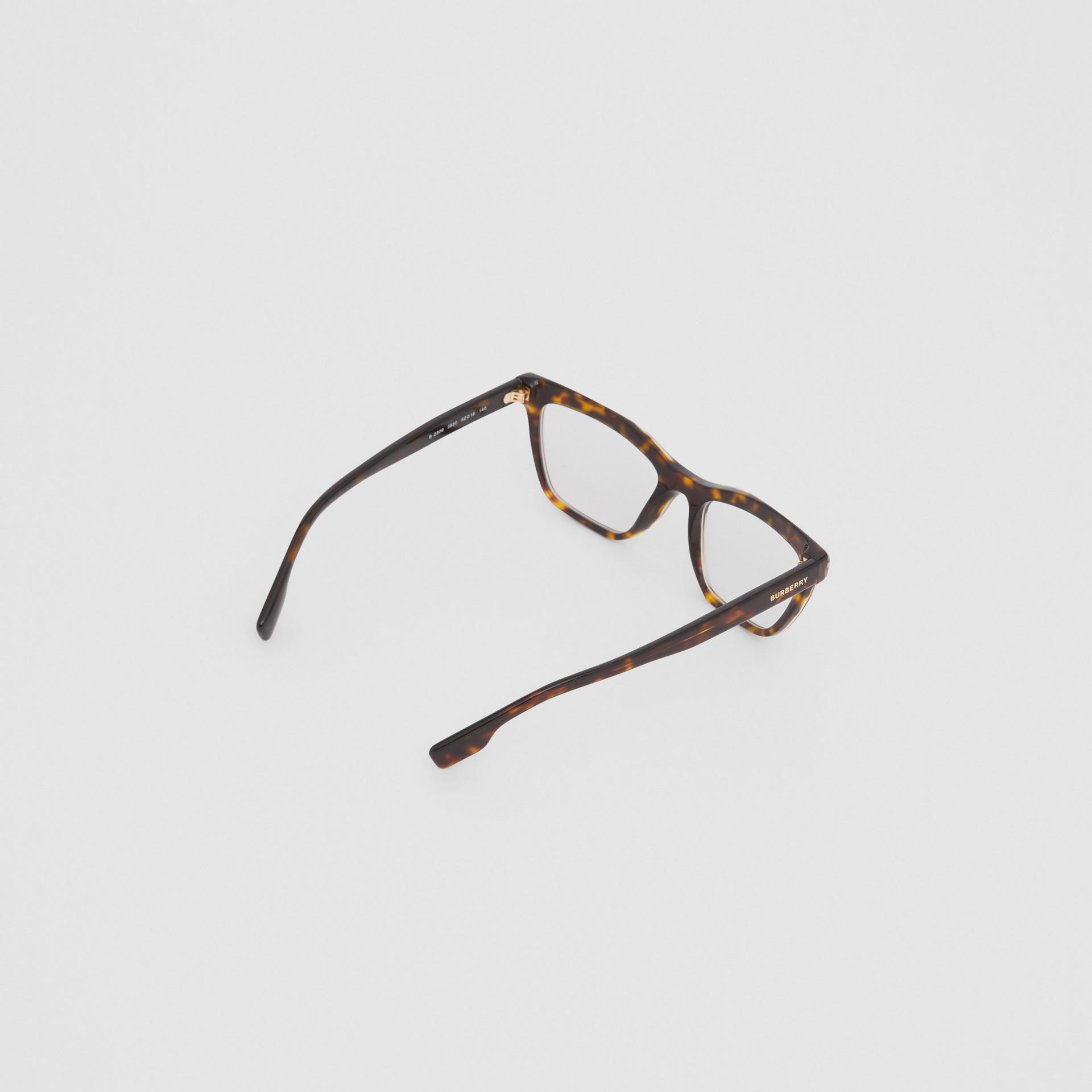 Monture rectangulaire pour lunettes de vue (Écaille  Tortue) - Femme | Burberry Canada - photo de la galerie 3