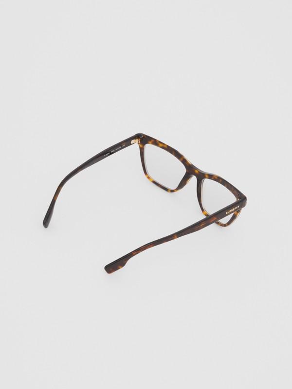 Monture rectangulaire pour lunettes de vue (Écaille  Tortue) - Femme | Burberry Canada - cell image 3