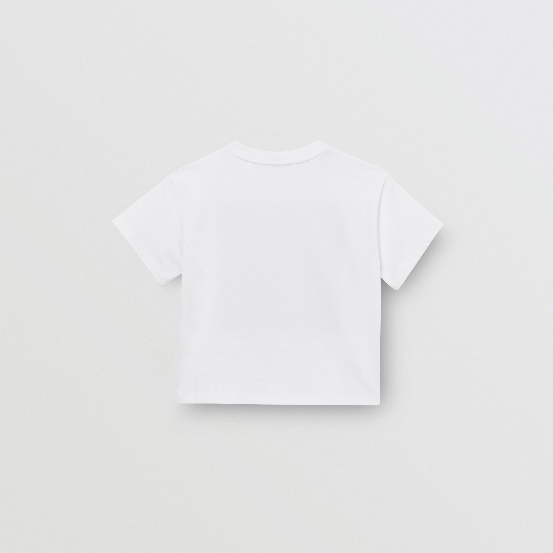 Star Print Cotton T-shirt in White - Children | Burberry Australia - gallery image 4