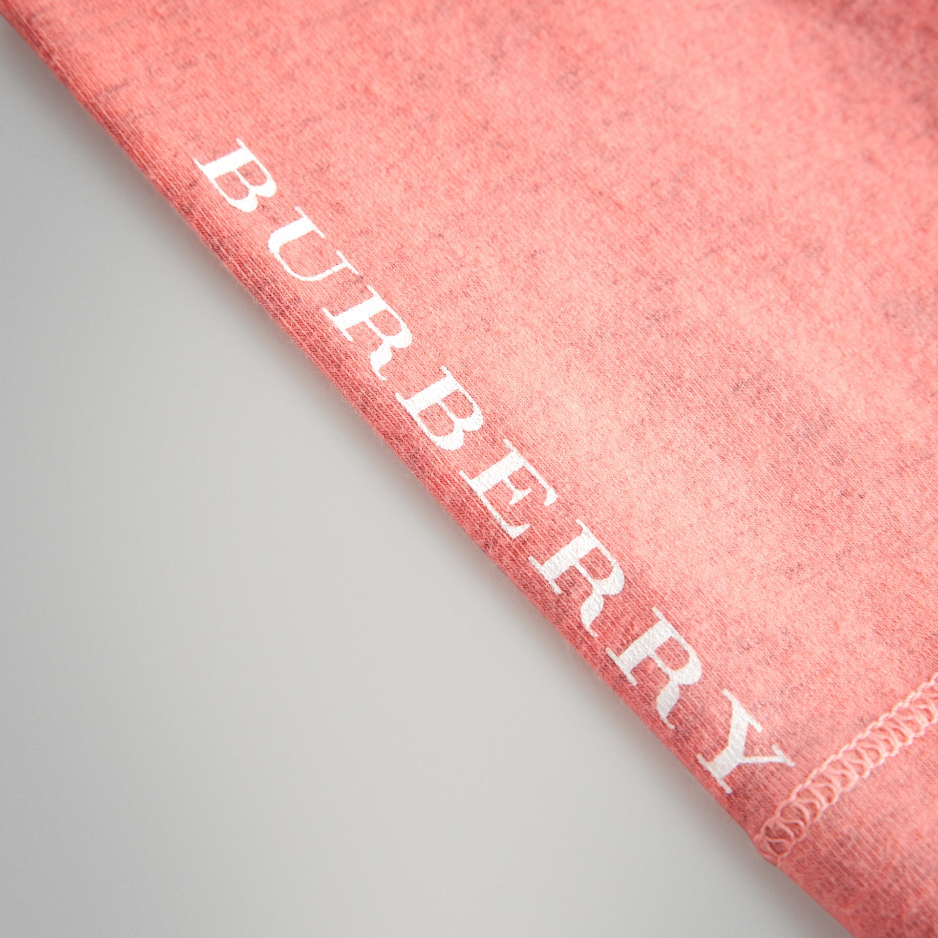 Logo Print Stretch Cotton Leggings in Pale Pink - Children | Burberry Australia - gallery image 1