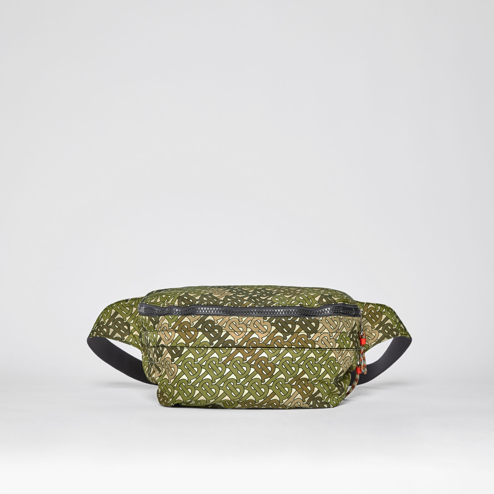 Monogram Print Panel Convertible Bum Bag in Khaki Green - Men | Burberry United States - gallery image 10