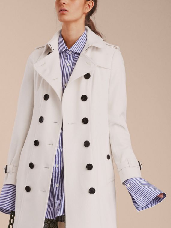 White Sandringham Fit Cashmere Trench Coat White - cell image 3