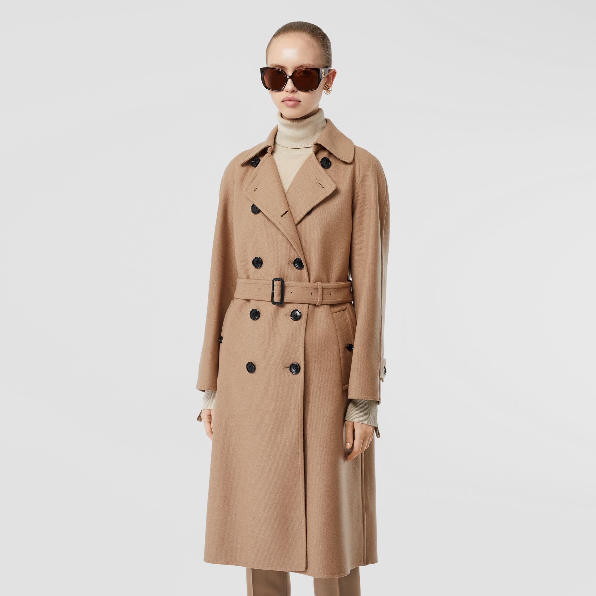 Double-faced Cashmere Trench Coat in Camel - Women | Burberry - gallery image 6