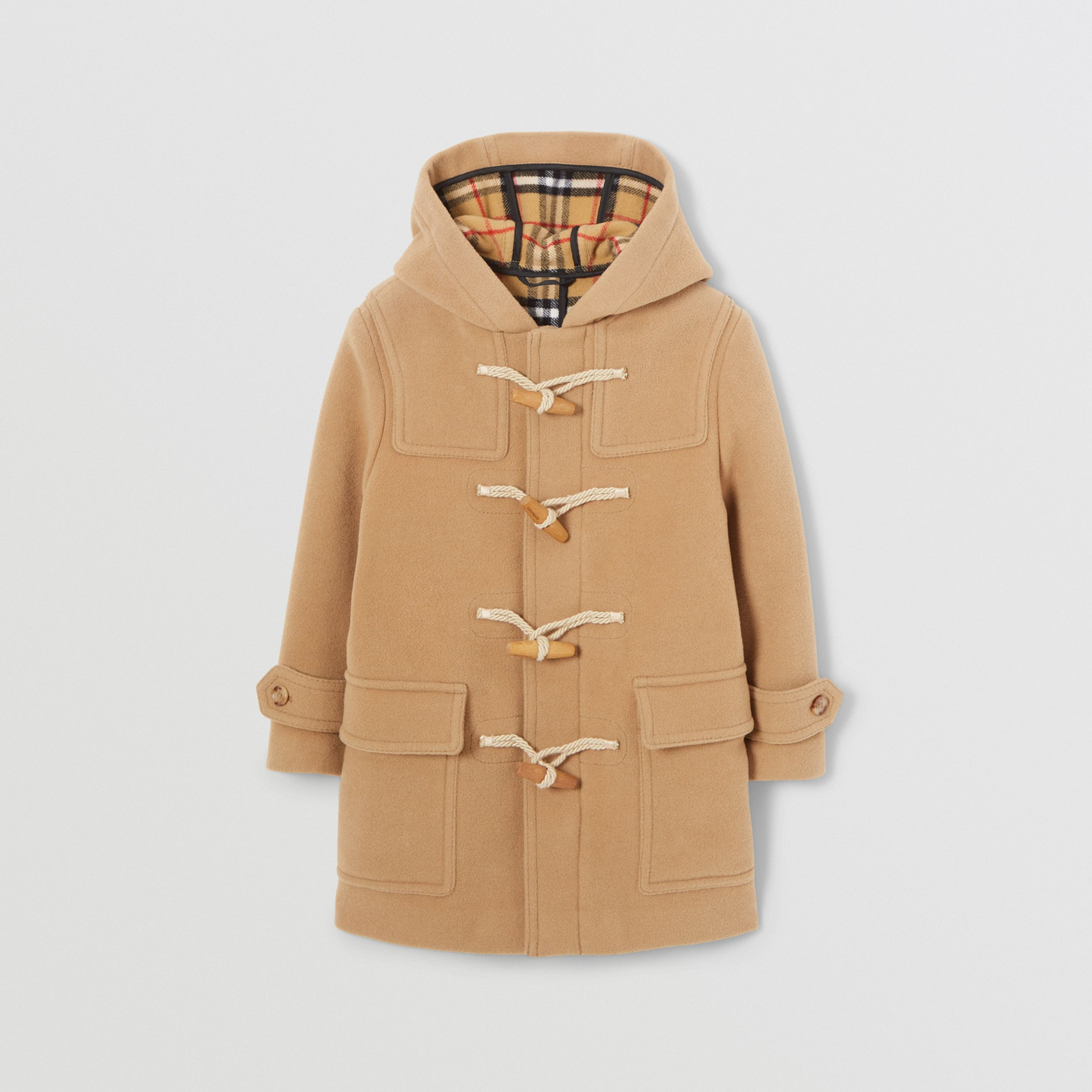 Double-faced Wool Duffle Coat in Antique Yellow | Burberry Australia - 1