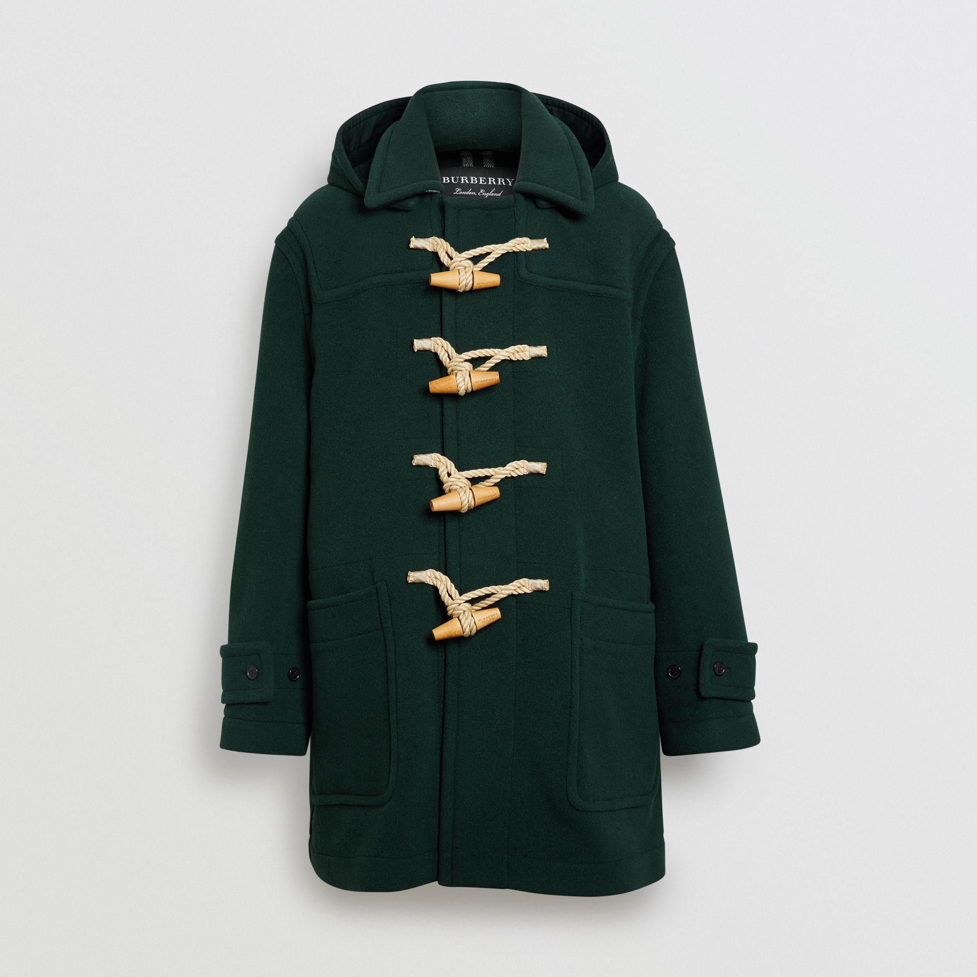 Gosha x Burberry Oversized Duffle Coat in Dark Forest Green | Burberry United Kingdom - gallery image 3