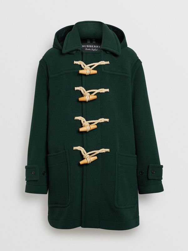 Gosha x Burberry Oversized Duffle Coat in Dark Forest Green | Burberry Hong Kong - cell image 3