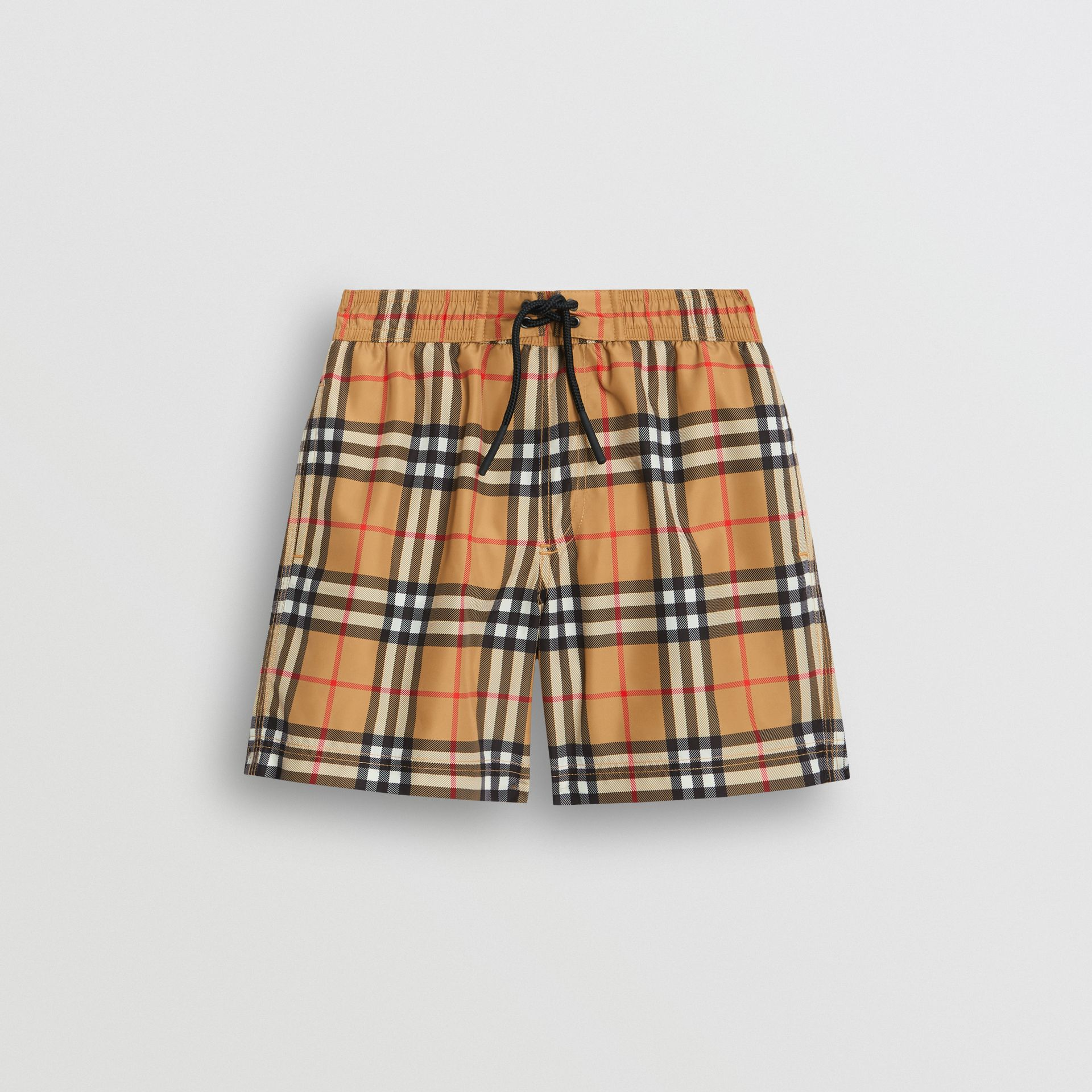 Vintage Check Swim Shorts in Antique Yellow - Boy | Burberry United Kingdom - gallery image 0