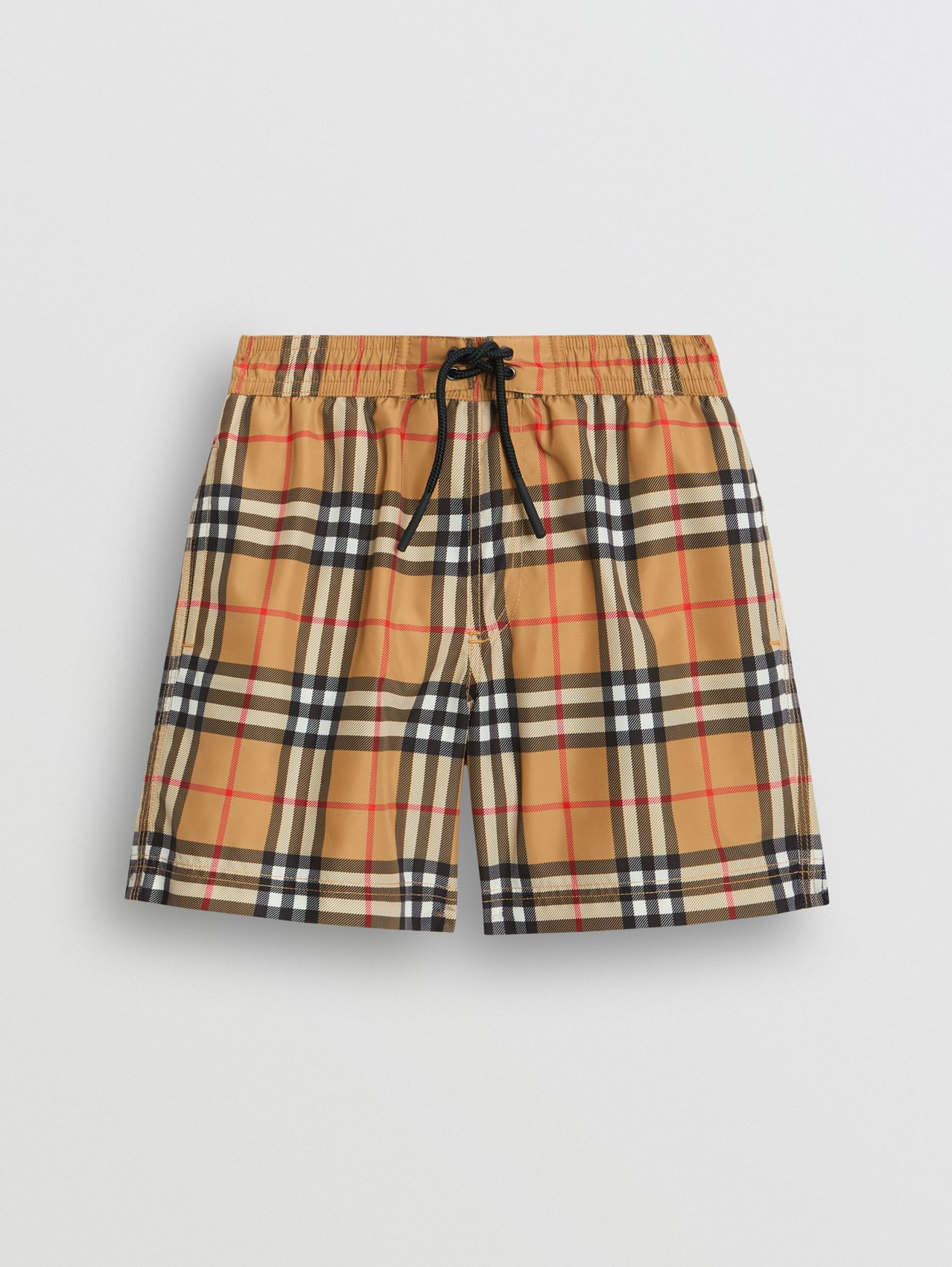 Vintage Check Swim Shorts in Antique Yellow