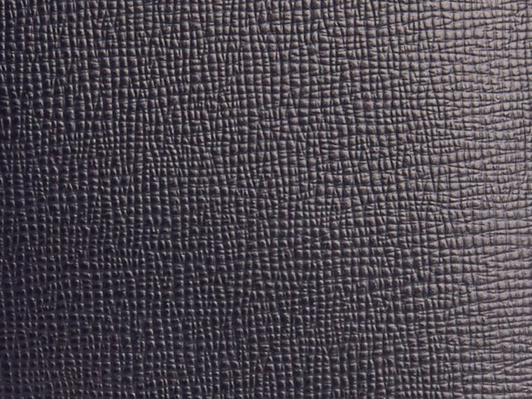 London Leather Passport Cover in Dark Navy - Men | Burberry - cell image 1