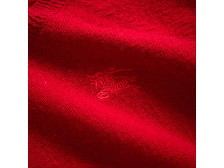 Check Detail Cashmere Sweater in Parade Red - Girl | Burberry Hong Kong - cell image 1