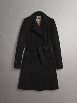 The Kensington – Long Trench Coat in Black - Women | Burberry ...