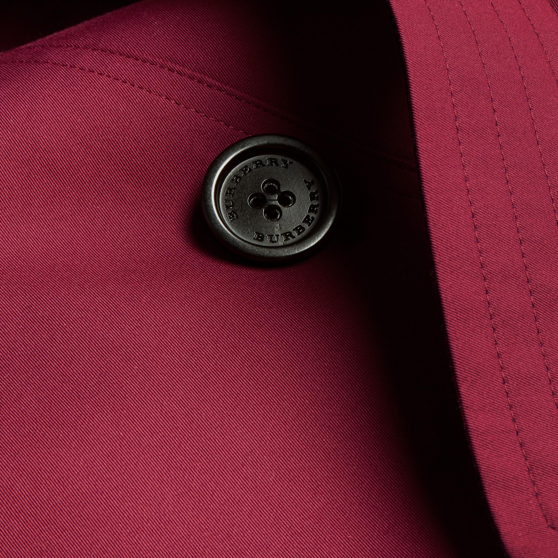 Damson pink Cotton Gabardine Trench Coat Damson Pink - gallery image 2