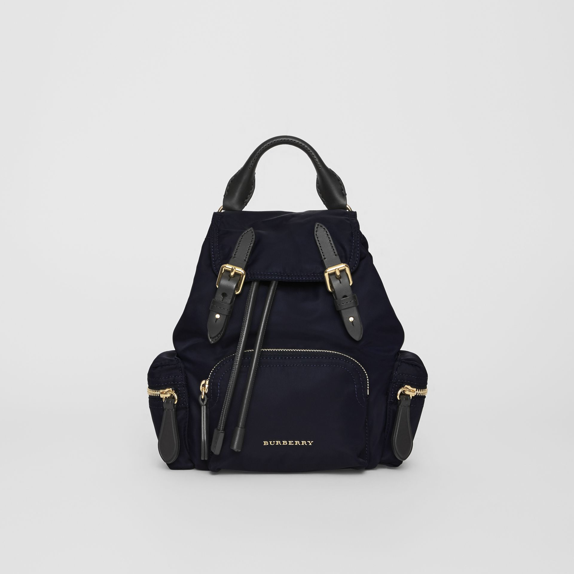 The Small Crossbody Rucksack in Nylon in Ink Blue - Women | Burberry Hong Kong - gallery image 0