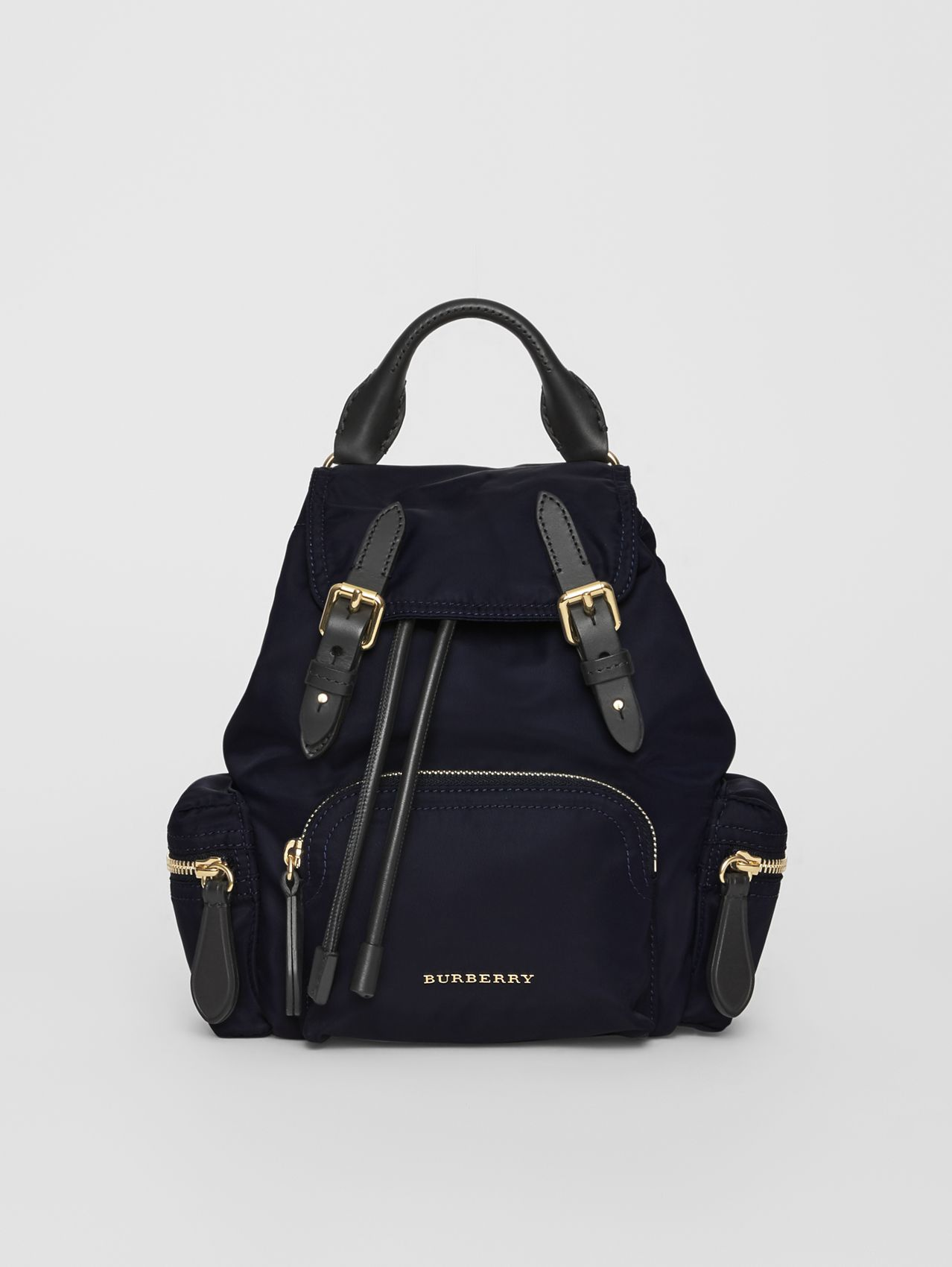 The Small Crossbody Rucksack in Nylon in Ink Blue