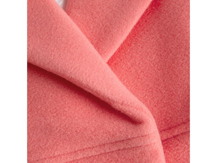 Boiled Wool Cocoon Coat in Bright Pink - Girl | Burberry - cell image 1